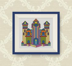 BUY 2, GET 1 FREE! Colorful Castle cross stitch pattern, Instant Download, pdf counted cross stitch pattern, P187 by NataliNeedlework on Etsy