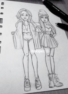 drawings bff drawing cartoon sketches itslopez lopez fierce pencil laia draw easy amazing friend friends dibujos cool character uploaded discover