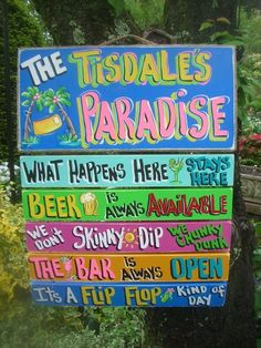 TROPICAL POOL RULES SIGNS SILLY POOL RULES PLAQUES BEACH RULES
