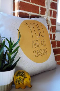 Buy Throw Pillow with You Really Are My Sunshine designed by Allyson Johnson. One of many amazing home décor accessories items available at Deny Designs. Simple Baby Shower, College Dorm Rooms, You Are My Sunshine, Go Outside, Home Decor Accessories, Home Goods, Textiles, Silhouette, Throw Pillows