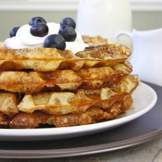 Yeasted waffles are *sooo* easy to make! And so delicious!