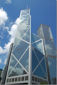 The Bank of China Tower by I.M. Pei