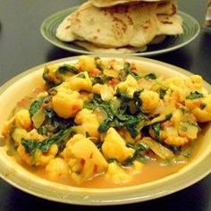 Spinach and cauliflower curry @ http://allrecipes.co.uk