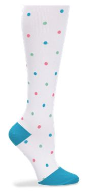 Nurse Mates Compression Trouser Socks - Multi Dots Style # LO883743  #uniformadvantage #uascrubs #socks #dots