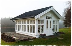 Love all the windows Outdoor Rooms, Outdoor Living, Garden Structures, Outdoor Structures, Greenhouse Shed, Gazebo, Pergola, Outdoor Buildings, Garden Pavilion