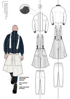 Fashion Portfolio - fashion design drawings; fashion sketchbook // Lauren Emily Evans