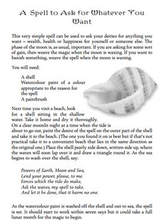 Appreciatively sourced from Johnstone's Ultimate Encyclopedia of Spells. Witch Spell Book, Witchcraft Spell Books, Wicca Witchcraft, Magick Spells, Luck Spells, Wish Spell, Witchcraft Spells For Beginners, Hoodoo Spells, Eclectic Witch