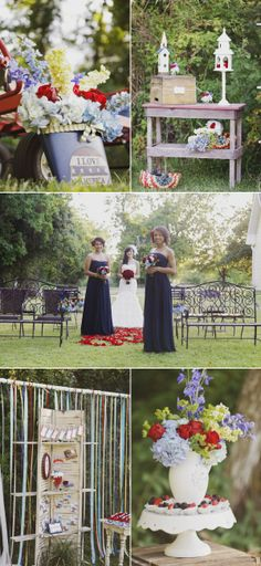 Fourth of July Photo Shoot by La Belle Fleur Wedding Designs  Events | The Wedding Story