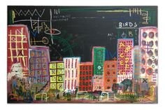 ©timfrager Coloring Buildings original acrylic on canvas