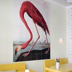 My design inspiration: Birds Of America Flamingo on Fab. Birds Of America, Encaustic Art, Wall Decor, Wall Art, Solid Wood Furniture, Home Living, Living Room, Pink Flamingos, Wall Wallpaper