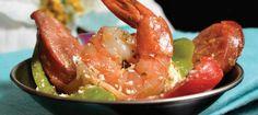 Chorizo Shrimp by Chef/owner Steve Kandilakis of Steve's Bistro