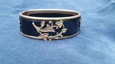 Art Deco black and gold bracelet - Gold filled bracelet - antique bracelet - hinged bracelet - hinged bangle - engagement bracelet - antique by SteamyAntiquities on Etsy