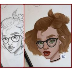 Hair is always a tricky thing to paint or render. But Kaitlyn @k8lynnicole_16 has really used her brush strokes to capture this character's hair in a great way. Plus the depth she gave her by adding that glare on her glasses is really effective. Fantastic work Kaitlyn.  Remember keep tagging #autodesksketchbook to show us your work and we might feature you as well.