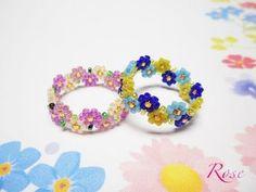 beading patterns for beginners Diy Beaded Rings, Diy Jewelry Rings, Seed Bead Jewelry, Bead Jewellery, Wire Jewelry, Jewelry Making, Wire Earrings, Seed Bead Patterns, Beaded Jewelry Patterns