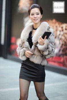 Image detail for -Deluxe women coat rabbit fur coat genuine fur coat women fashion coat ...