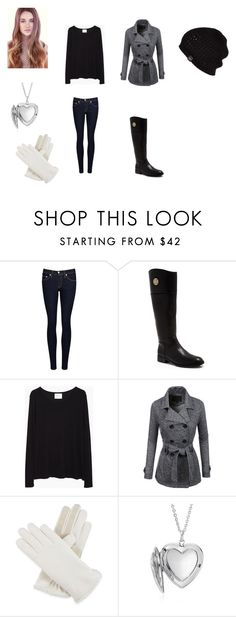 """""""April Greystoke Outfit 15"""" by girlwhosparkles ❤ liked on Polyvore featuring rag & bone/JEAN, Tory Burch, La Garçonne Moderne, LE3NO, Isotoner, Blue Nile and UGG Australia"""
