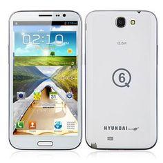 Hyundai Q6 Quad Core Android 4.2 Smartphone MTK6589 3G GPS OTG 1G RAM 16GB 6.0 Inch HD Screen