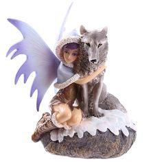 Mystic Realms Fairy Figurine with Wolf Companion http://ift.tt/2hmgtMQ