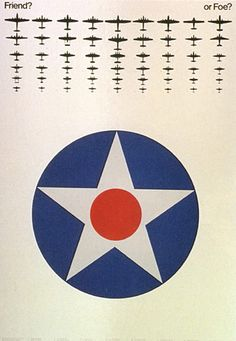 Tomoko Miho — Friend or Foe poster for the National Air and Space Museum (1976)