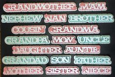 Complete Set of Family Layered Toppers CraftROBO Cameo on Craftsuprint - Add To Basket!