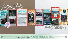a double page layout that's not matchy-matchy. By who? The genius that is Lisa Dickinson. Who else?