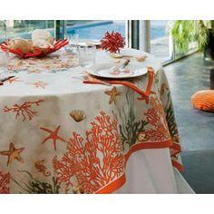 Скатерть Коралл от Beauville #beauville #tablecloth #скатерть #предметы_декора #идеал_интерьер #арбат #аксессуары