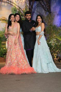 Sonam Kapoor-Anand Ahuja's wedding reception: SRK, Salman, Akshay attend the grand bash Wedding Dress Backs, Wedding Dresses For Girls, Indian Wedding Outfits, Gorgeous Wedding Dress, Wedding Dress Sleeves, Indian Outfits, Gown Wedding, Wedding Reception, Lace Wedding