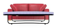 Buy Sonoma II Leather Occasional Sofa Bed- Large (2 People) Columbia Red Light | Next