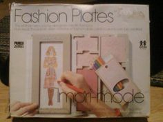 I had these fashion plates!