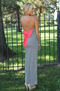 Watch Her Go Maxi - Watermelon/Black - UOIONLINE.COM