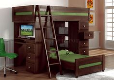Loft Bed With Desk 1 dont like colour very much but do like the bed and storage xxx