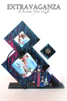 "Extravaganza: Немного картонажа и мастер-класс ""Геометрия в фоторамке""/Tutorial ""Geometry of the PhotoFrame"""