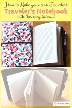 How to Make your own Fauxdori Traveler's Notebook for your kids with this Easy Tutorial! #travelersnotebook #planner #midori #fauxdori