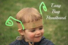"""Simple bug headband from happy hooligans ("""",) Happy Hooligans, Bug Crafts, Toddler Preschool, Toddler Play, Kids Party Themes, Forest School, Chenille, Yoga For Kids, Dramatic Play"""