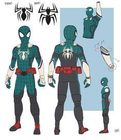 Hero Academia Characters, My Hero Academia Manga, Marvel Characters, Marvel Art, Marvel Heroes, Spider Men, Marvel Academy, Spiderman Kunst, Miles Morales Spiderman