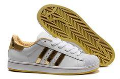 Domnul Adidas magazin online de pantofi Superstar II alb A224 aur galben