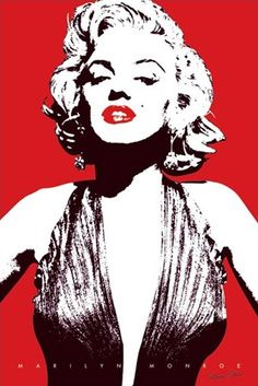 This dramatic poster of Hollywood legend Marilyn Monroe shows the actress in black and white against a bright red background. This red is also used to emphasise the luscious lips of this infamous star making a poster that is both stylish and a true focal point for any room.