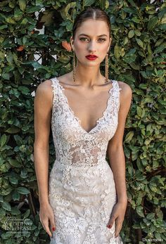 demetrios 2020 bridal sleeveless with strap v neck heavily embellished bodice romantic elegant trumpet wedding dress open v back chapel train (4) zv -- Demetrios Capsule 2020 Wedding Dresses | Wedding Inspirasi #wedding #weddings #bridal #weddingdress #weddingdresses #bride #fashion  ~