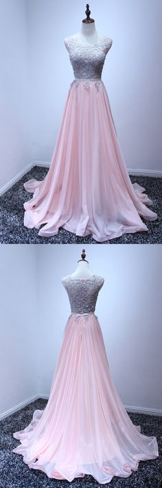 Only $149, Beautiful Pink Chiffon Prom Dress Long With Grey Lace 2018 #AKE18159 at #SheProm. SheProm is an online store with thousands of dresses, range from Prom,Formal,Evening,Pink,A Line Dresses,Long Dresses,Customizable Dresses and so on. Not only selling formal dresses, more and more trendy dress styles will be updated daily to our store. With low price and high quality guaranteed, you will definitely like shopping from us. Shop now to get $10 off!