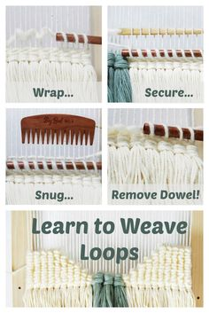 DIY Woven Art eBook Loops are a wonderfully versatile technique for rigid heddle looms and tapestry work! Learn this and other techniques in DIY Woven Art! The post DIY Woven Art eBook appeared first on Weaving ideas. Weaving Textiles, Weaving Art, Weaving Patterns, Tapestry Weaving, Loom Weaving, Fabric Weaving, Stitch Patterns, Knitting Patterns, Weaving Wall Hanging