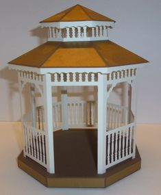 This gazebo is very similar to no. 2. On this, I haven't made any separate inner floor. The corner posts goes through the base and are glued on the underside. I don't know if you think this is trickier than the others but I wanted to try this. I have added some pictures as it …