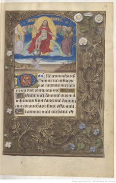 page 56r Medieval Manuscript, Illuminated Manuscript, Arsenal, Thing 1, Book Of Hours, Bnf, Nerd, History, Books