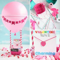 💕❤️💕Hot Air Balloon Valentine's Day Box from @giggles_galore is such a cute idea for Valentine's Day! Get the DIY steps & supplies click the link. #valentinesday #valentinesdayboxes #diy #craftideas #valentinesdaycraft #orientaltrading