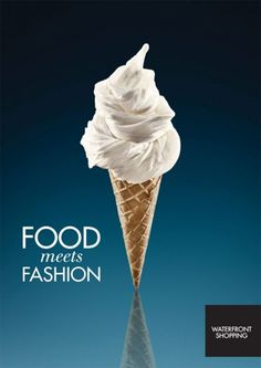 Food Meets Fashion Print Ads By Bark Copenhagen for Waterfront Shopping Denmark