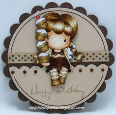 """It is Cupcake time:-)! Our lovely Jane has chosen a great theme for you, """" Sew Mad """", which means we would . Cupcake Crafts, Copic Drawings, Shabby Chic Cards, Beautiful Handmade Cards, Easel Cards, Pretty Cards, Card Sketches, Copics, Cool Cards"""