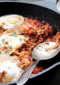 Shakshouka with Chorizo and Bread Crumbs Recipe