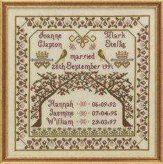 Family Tree Cross Stitch Kit by the Historical Sampler Company - SKU16146