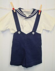 Vintage Baby Clothes/Baby Boy Two Piece Set by OnceUponADaizy, $30.00