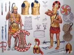 Early Greek Dark Ages warriors by Giuseppe Rava