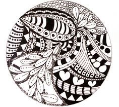 zentangle circles | Zentangle Circles You should all try ...